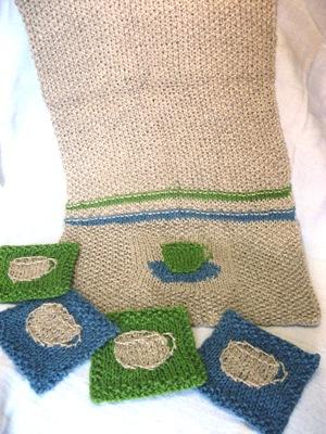tea towel &  coasters