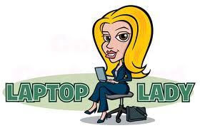 laptop lady