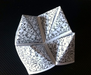 fortune teller partly open