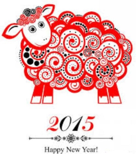 happy new year of sheep